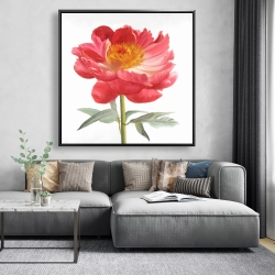 Framed 48 x 48 - Pink peony
