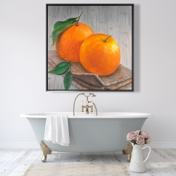 Framed 48 x 48 - Two oranges