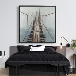 Framed 48 x 48 - Old abandoned bridge