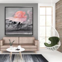 Framed 48 x 48 - Pink clouds