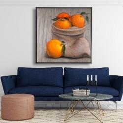 Framed 48 x 48 - Bag of oranges