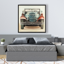 Framed 48 x 48 - Old 1920s luxury car