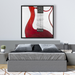Framed 48 x 48 - Red electric guitar