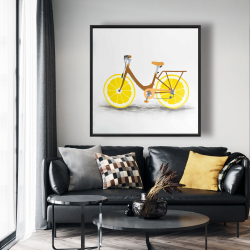 Framed 48 x 48 - Lemon wheel bike
