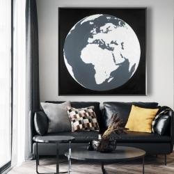 Framed 48 x 48 - Earth