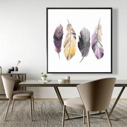 Framed 48 x 48 - Bohemian feather set