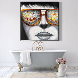 Framed 48 x 48 - Colorful sunglasses