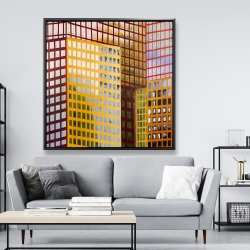 Framed 48 x 48 - Skyscrapers