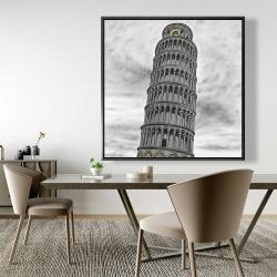 Framed 48 x 48 - Tower of pisa in italy