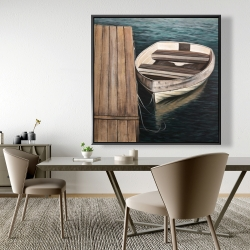 Framed 48 x 48 - Rowboats