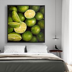 Framed 48 x 48 - Basket of limes