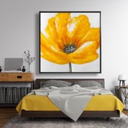 Framed 48 x 48 - Beautiful yellow flower