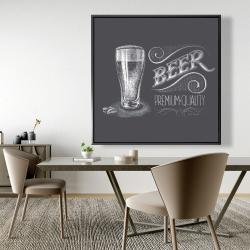 Framed 48 x 48 - Vintage beer signboard