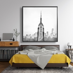 Framed 48 x 48 - Empire state building