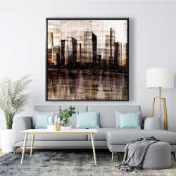 Framed 48 x 48 - Sketch of the city