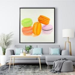 Framed 48 x 48 - Small bites of macaroons