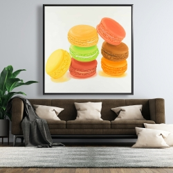 Framed 48 x 48 - Delicious macaroons
