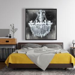 Framed 48 x 48 - Big glam chandelier