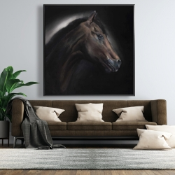 Framed 48 x 48 - Loneliness horse