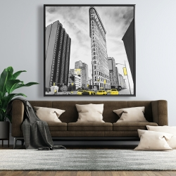Framed 48 x 48 - Outline of flatiron building to new-york
