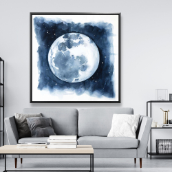 Framed 48 x 48 - Satellite view of the earth
