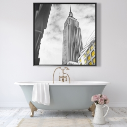 Framed 48 x 48 - Outline of empire state building
