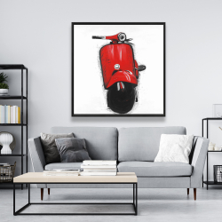 Framed 48 x 48 - Red italian scooter