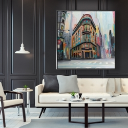 Framed 48 x 48 - Building architecture in new-york