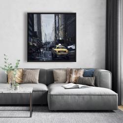 Framed 48 x 48 - New york in the dark