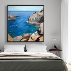 Framed 48 x 48 - California coast