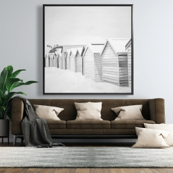 Framed 48 x 48 - Beach cabins