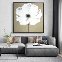 Framed 48 x 48 - Abstract color splash flower