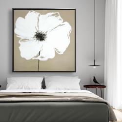 Framed 48 x 48 - Abstract color splash petals flower