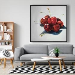 Framed 48 x 48 - Pile of cherries