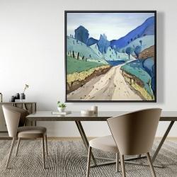 Framed 48 x 48 - Tuscany trail