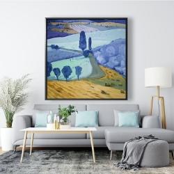 Framed 48 x 48 - Tuscany field