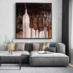 Framed 48 x 48 - The empire city of newyork