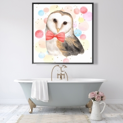 Framed 48 x 48 - Chic owl
