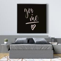 Framed 48 x 48 - You + me