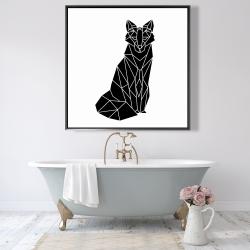 Framed 48 x 48 - Geometric fox