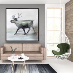 Framed 48 x 48 - Caribou