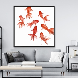 Framed 48 x 48 - Red fishes