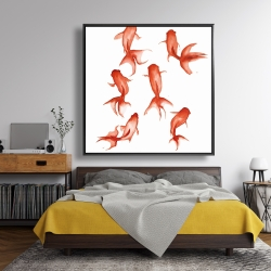 Framed 48 x 48 - Small red fishes