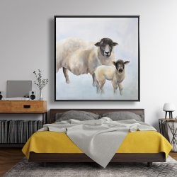 Framed 48 x 48 - Sheep and its baby