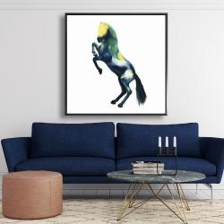 Framed 48 x 48 - Greeting horse