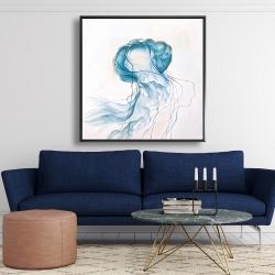 Framed 48 x 48 - Jellyfish moving