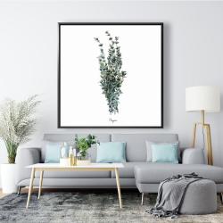 Framed 48 x 48 - Thyme leaves bundle - fr