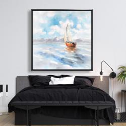 Framed 48 x 48 - Sailboat landscape