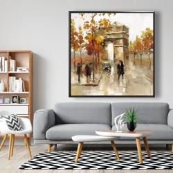Framed 48 x 48 - Arc de triomphe in autumn