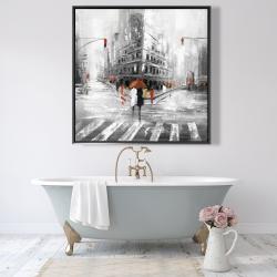 Framed 48 x 48 - Greyish flatiron building